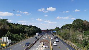 L'autoroute A10 au nord d'Orléans en août 2019. (ANNE OGER / FRANCE-BLEU ORLÉANS)