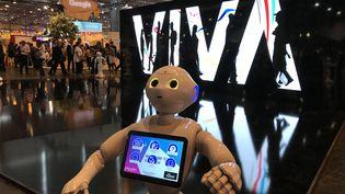 Lerobot Pepper vous accueille à Vivatech. (RADIO FRANCE - JEROME COLOMBAIN)