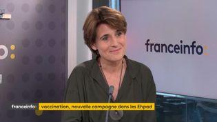 Sophie Boissard, directrice générale de Korian, leader européen des maisons de retraite, invitée de franceinfo le 1er octobre 2021. (FRANCEINFO)