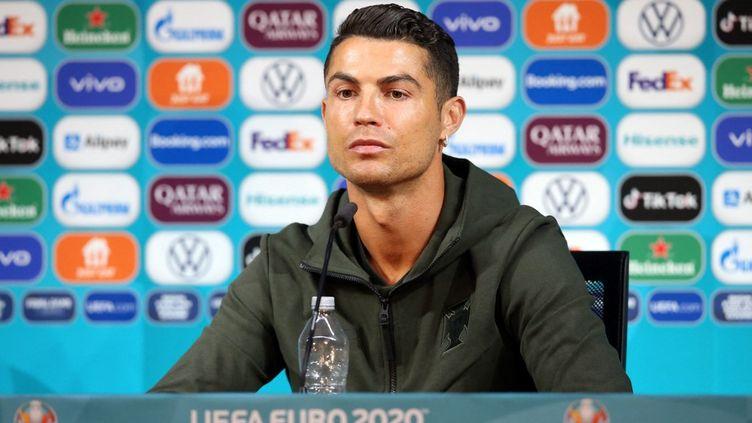 Cristiano Ronaldo, en conférence de presse d'avant-match, le 14 juin 2021. (HANDOUT / UEFA)