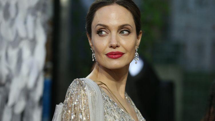 Angelina Jolie, le 9 octobre 2019, à Londres. (ISABEL INFANTES / AFP)