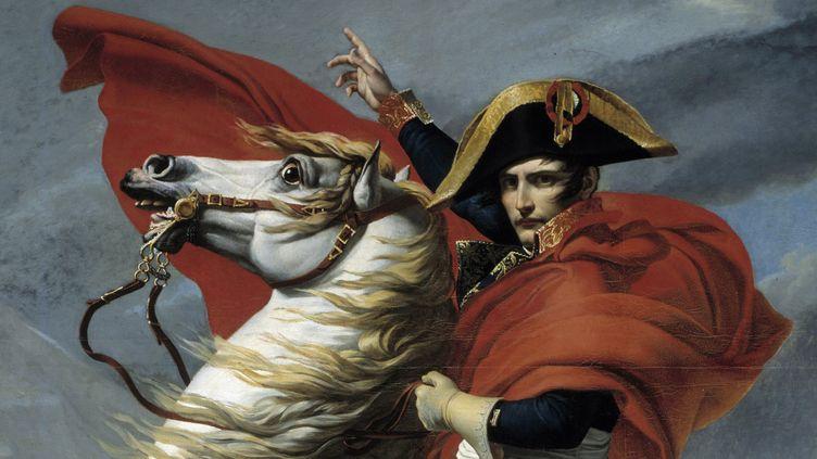 """""""Bonaparte franchissant le Grand Saint-Bernardd"""" de David  (PHOTO JOSSE / LEEMAGE)"""