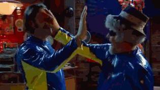 """Capture d'écran d'un gif tiré de la série britannique """"The Mighty Boosh"""". (GIPHY)"""