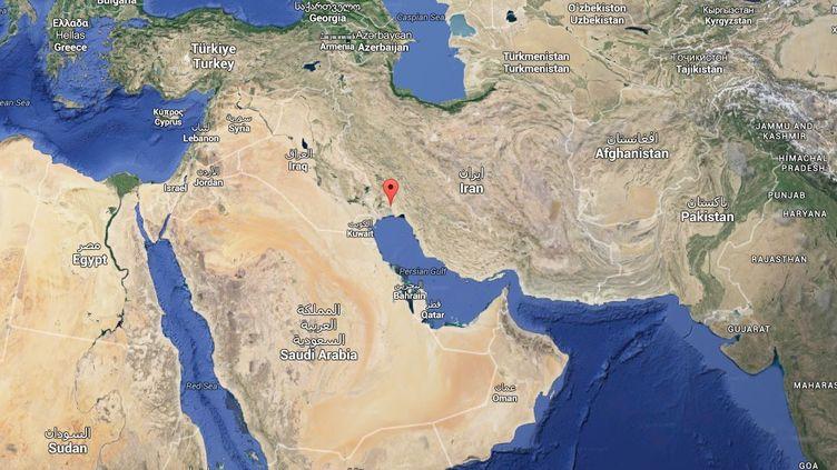 """La température ressentie a atteint 74°C, le 31 juillet 2015, à Bandar Mahshahr (Iran), rapporte le """"Washington Post"""". (GOOGLE MAPS)"""