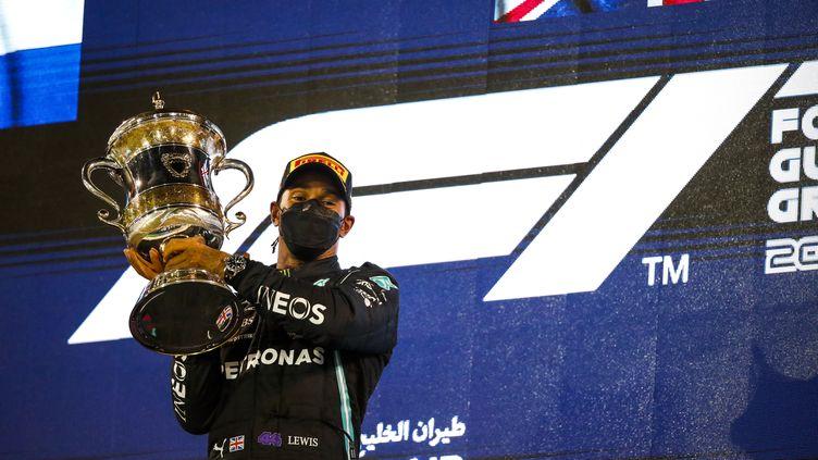 Lewis Hamilton remporte le Grand Prix de Bahreïn, dimanche 28 mars. (FLORENT GOODEN / DPPI MEDIA)