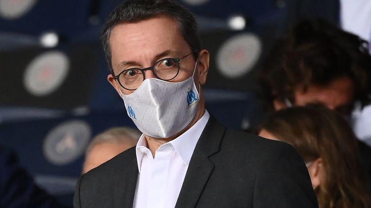 Le président de l'Olympique de Marseille Jacques-Henri Eyraud.  (FRANCK FIFE / AFP)