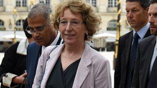 La ministre du Travail Muriel Pénicaud lors de son arrivée au séminaire gouvernemental, samedi 1er juillet 2017 à Nancy (Meurthe-et-Moselle). (FRANCOIS LO PRESTI / AFP)
