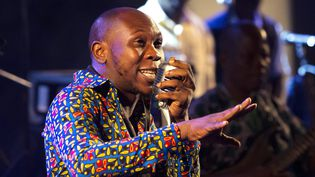Seun Kuti avait 14 ans lors de la disparition de Fela Kuti.  (Alex Baillaud/IP3 PRESS/MAXPPP)