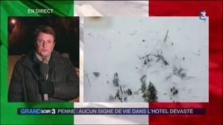 François Beaudonnet, envoyé spécial de France Télévisions en Italie. (FRANCE 3)