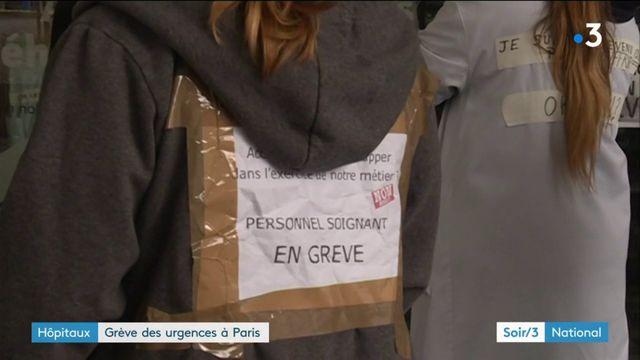 Paris : les urgences perturbées par une grève du personnel soignant