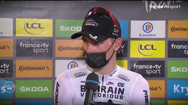 Une nouvelle fois vainqueur sur ce Tour de France 2021, Matej Mohoric est revenu sur l'actualité de son équipe, Bahrain Victorious, perquisitionnée par la Gendarmerie il y a quelques jours. Le Slovène s'est expliqué sur son geste lors de l'arrivée, mais a également évoqué sa belle victoire du jour.