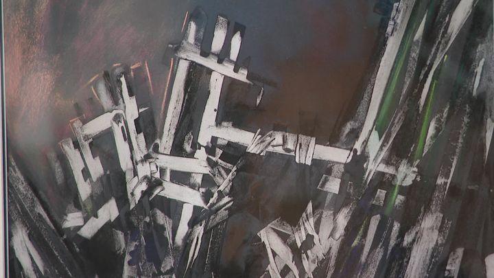 Le 11 septembre 2001 vu par l'artiste Michèle Sauberli. (France 3 Franche-Comté)