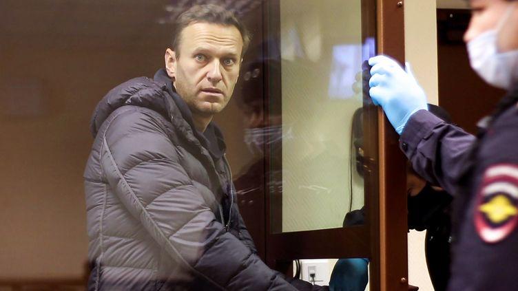 L'opposant russe Alexeï Navalny, lors d'un procès à Moscou, jeudi 5 février 2020. (HANDOUT / MOSCOW'S BABUSHKINSKY DISTRICT / AFP)