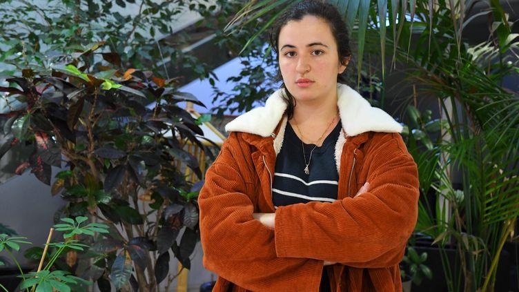 Léa Tytéca, coordinatrice départementale des Jeunes communistes des Pyrénées orientales. (MICHEL CLEMENTZ / MAXPPP)