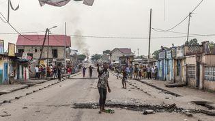 Manifestationd'opposants à Joseph Kabila, ici dans le quartier de Yolo à Kinshasa, le 20 décembre 2016. (EDUARDO SOTERAS / AFP)