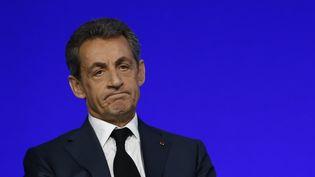 Nicolas Sarkozy, président du parti Les Républicains, au conseil national du parti, à Paris, le 14 février 2016. (JACKY NAEGELEN / REUTERS)