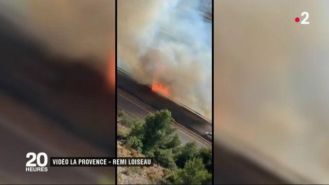 Bouches-du-Rhône : plusieurs départs de feu sur l'A7