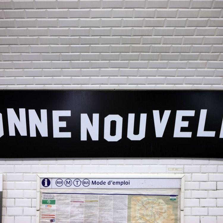 La station de métro Bonne Nouvelle,à Paris. (PHOTO12 / GILLES TARGAT / AFP)