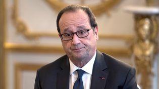 Le président de la République, François Hollande, le 14 octobre 2016 à l'Elysée. (MARTIN BUREAU / AFP)