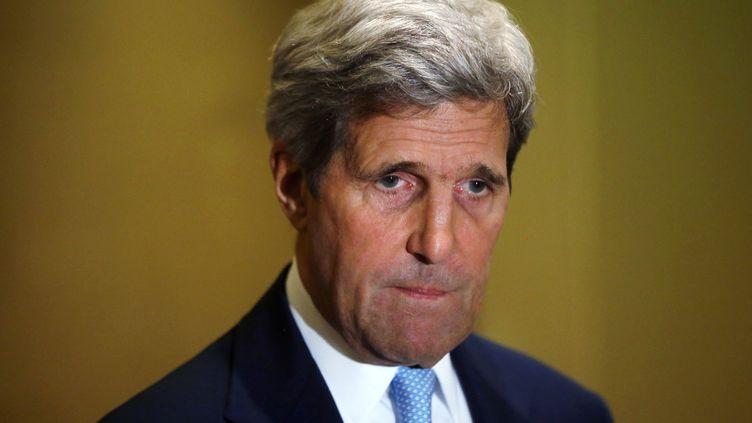 Le secrétaire d'Etat américain, JohnKerry, le 24 juillet 2014, au Caire (Egypte). (AFP)