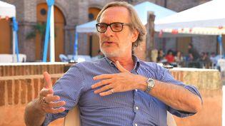 Le directeur de Visa pour l'image Jean-François Leroy à Perpignan (20 septembre 2018) (MICHEL CLEMENTZ / MAXPPP)