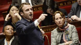 Le ministre de l'Economie, Emmanuel Macron, le 27 janvier 2015 à l'Assemblée nationale. (BERTRAND GUAY / AFP)