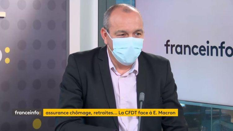Le secrétaire général de la CFDT, Laurent Berger (21 juin 2021). (FRANCEINFO / RADIO FRANCE)