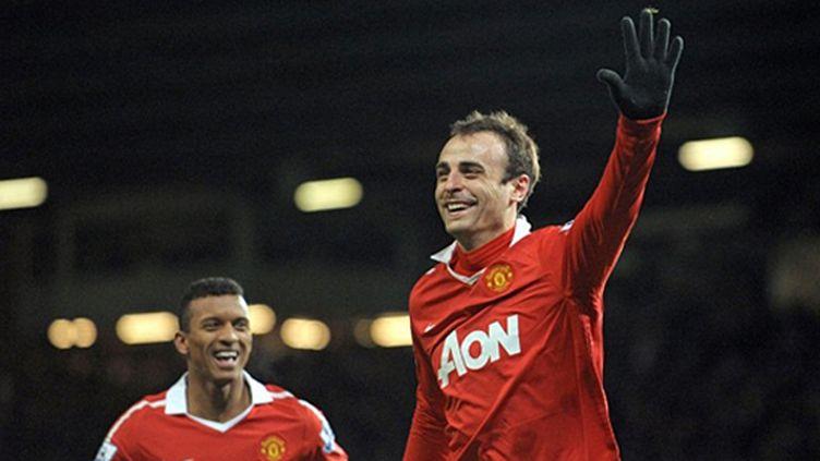 La joie de Dimitar Berbatov (Manchester United) (ANDREW YATES / AFP)