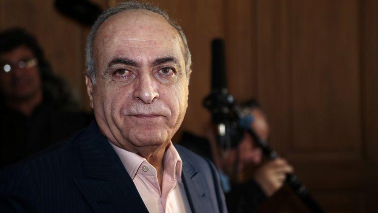 Ziad Takieddine lors d'une conférence de presse à Paris en avril 2013. (JACQUES DEMARTHON / AFP)