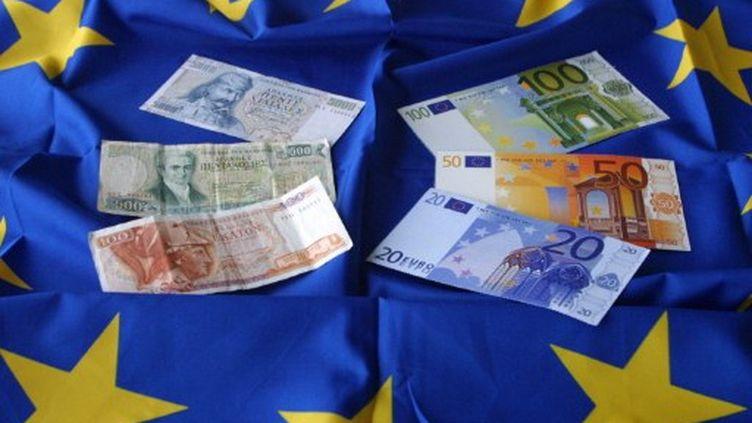 La drachme, monnaie grecque d'avant l'euro (AFP)