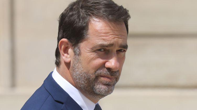 Christophe Castaner à la sortie de l'Elysée après le Conseil des ministres, le 17 juillet 2019 à Paris. (LUDOVIC MARIN / AFP)