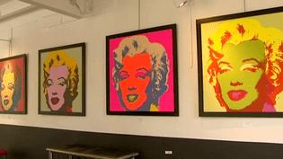 La série Marilyn d'Andy Warhol en vente à la galerie Attila (Aveyron)  (Capture d'image France3/Culturebox)