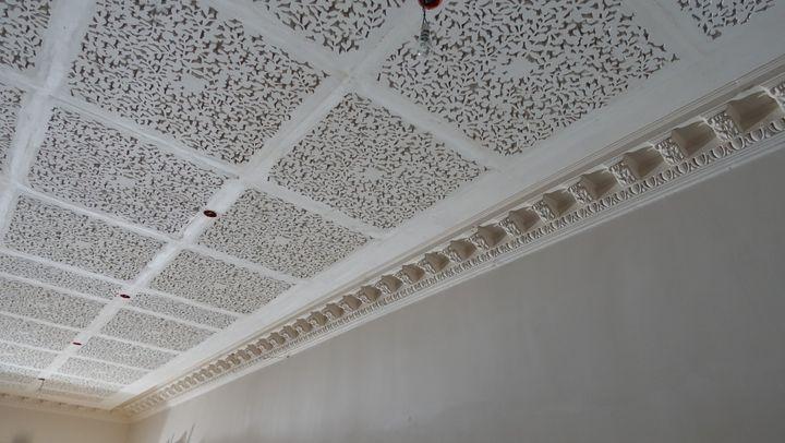 Futur musée du parfum Fragonard : les moulures en stuc ont été restaurées  (Corinne Jeammet)