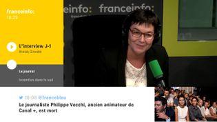 Annick Girardin, la ministre des Outre-Mer, était l'invitée de Yaël Goosz, mercredi 25 octobre sur franceinfo. (FRANCEINFO / RADIOFRANCE)