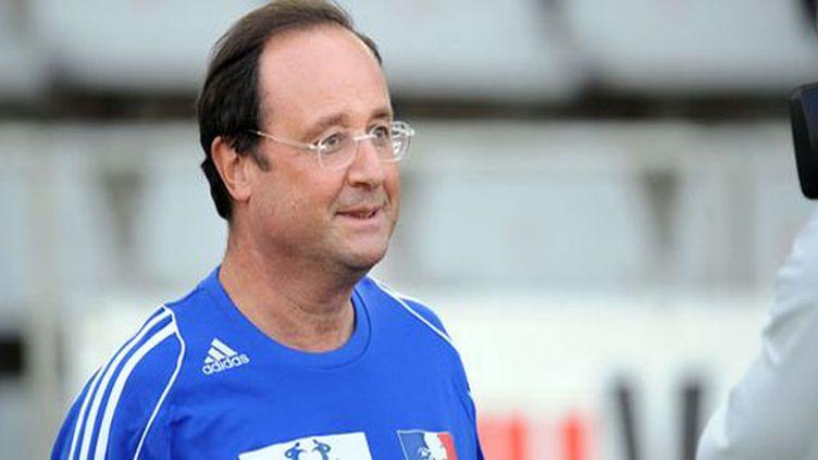 François Hollande sous le maillot des Bleus