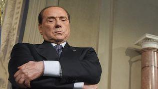L'ancien chef du gouvernement italien Silvio Berlusconi, leader du parti politique Forza Italia, le 7 mai 2018 à Rome (Italie).  (TIZIANA FABI / AFP)