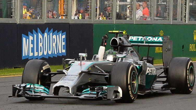 Nico Rosberg apporte une 100e victoire à Mercedes (WILLIAM WEST / AFP)