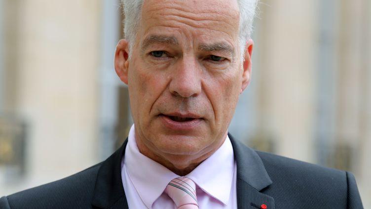 Alain Griset, le président de l'U2P (Union des entreprises de proximité), le 12 octobre 2017. (LUDOVIC MARIN / AFP)