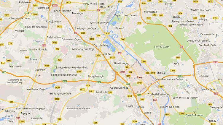 L'autoroute A6 a été bloquée pendant plus de quatre heures par une soixantaine de caravanes, dimanche 15 février 2015. ( GOOGLE MAPS / FRANCETV INFO )