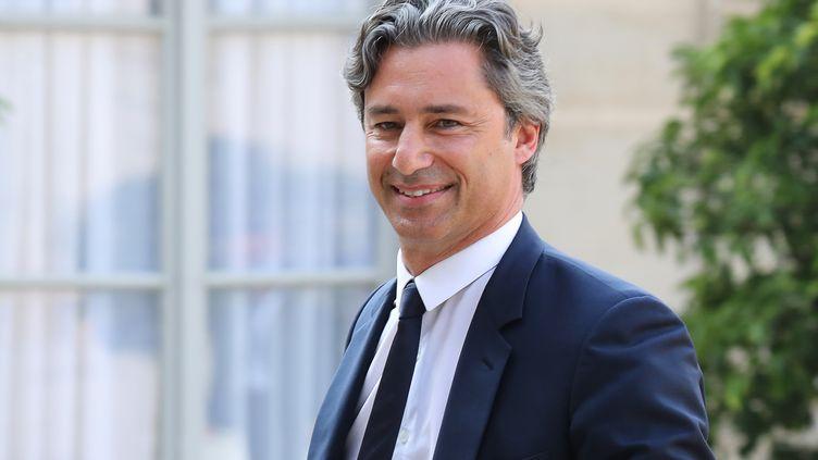 Laurent Solly, patron de Facebook France à l'Elysée le 23 mars 2018. (LUDOVIC MARIN / AFP)
