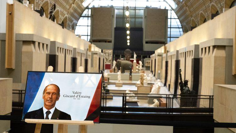 Un hommage est rendu a Valery Giscard d Estaing au Musee d'Orsay le 4 décembre 2020 (SANDRINE MARTY / HANS LUCAS)