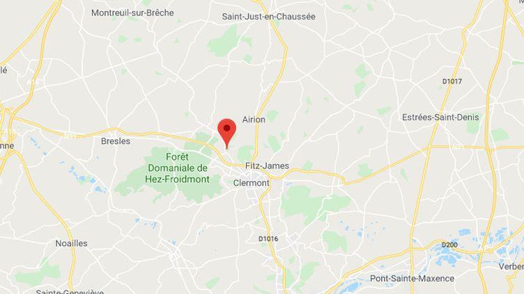 La victime a été retrouvé morte à son domicile de Ronquerolles, près d'Agnetz (Oise), lundi 4 novembre 2019. (GOOGLE MAPS)