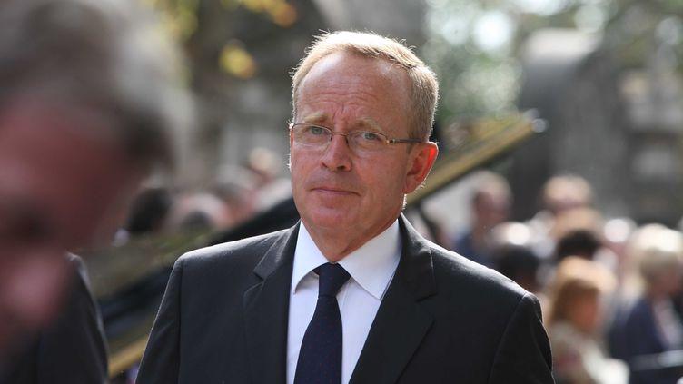 Renaud Donnedieu de Vabres aux obsèques du cinéaste Alain Corneau au Père-Lachaise, à Paris, le 4 septembre 2010. (LE FLOCH / SIPA)