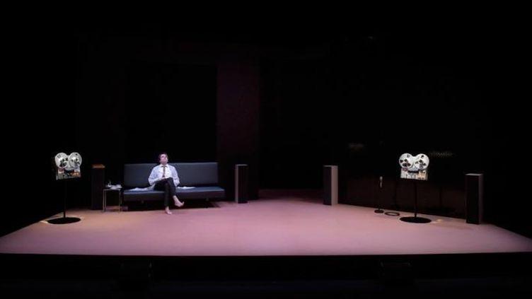 """""""Providence"""" le roman d'Olivier Cadiot mis en scène à la Comédie de Reims par Ludovic Lagarde et interprété par Laurent Poitrenaux  (Pascal Gely)"""