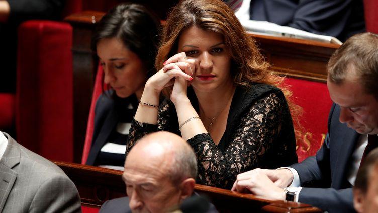 Marlène Schiappa, secrétaire d'État à l'Égalité entre les femmes et les hommes, lors d'une session de questions au gouvernement, à l'Assemblée nationale, le 13 juin 2018. (BENOIT TESSIER / REUTERS)