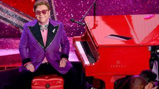 Elton John sur scène le 9 février 2020 lors de la 92e cérémonie des Académy Awards au Dolby Théatre d'Hollywood (KEVIN WINTER / GETTY IMAGES NORTH AMERICA)