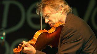 Didier Lockwood parrain de la 18e édition en 2004  (PHOTOPQR/LE COURRIER DE L'OUEST)