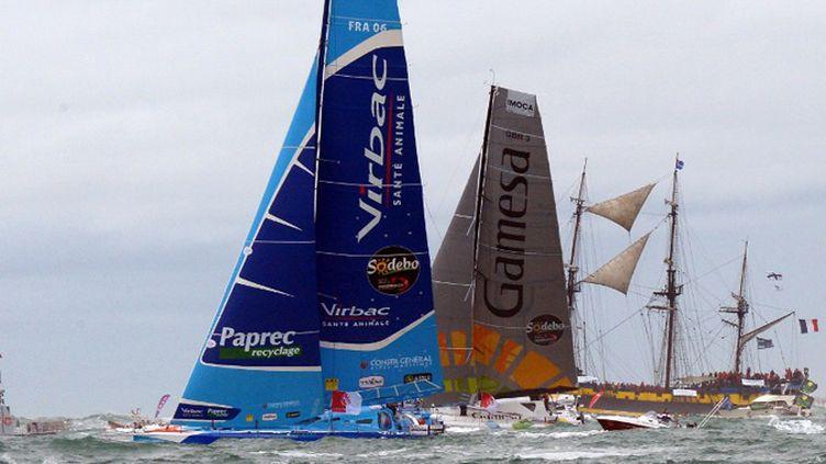 Armel Le Cleac'h a pris les commandes du Vendée Globe. (DAMIEN MEYER / AFP)
