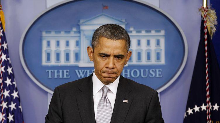 Le président américain, Barack Obama, lors d'une conférence de presse à la Maison Blanche, à Washington (Etats-Unis), le 19 décembre 2012. (KEVIN LAMARQUE / REUTERS)