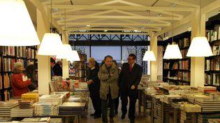 Michel Houellebecq vient faire des signatures à la ibrairie Mollat en 2010.  (Fabien Cottereau/PHOTOPQR/SUD OUEST)